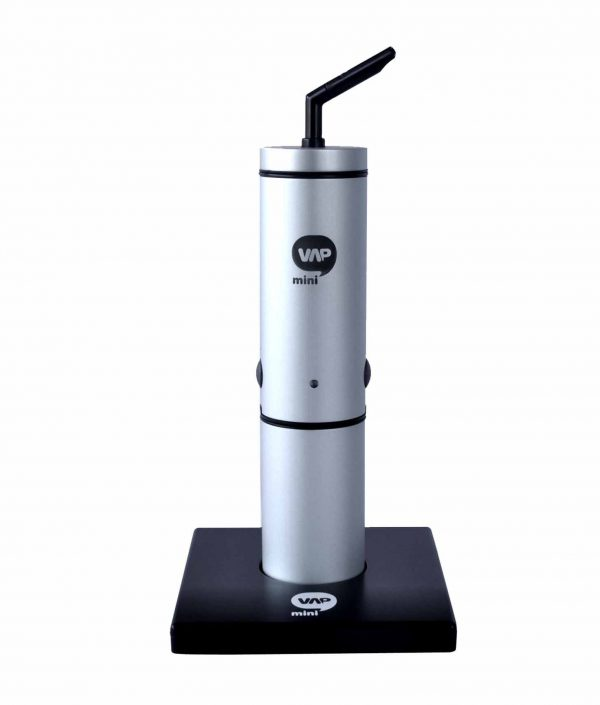 MiniVAP portable - silver vaporizer with charging base